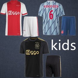Wholesale player boy online – design Ajax th Anniversary Chilid Football Uniform New Soccer Jerseys Player Version Fans camisa maillot Ajax football kits Kids