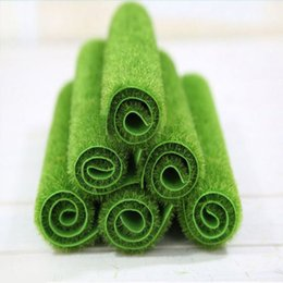 turf flooring NZ - Mayitr Grass Mat Green Artificial Lawns Turf Carpets Fake Sod Home Garden Moss For Home Floor Wedding Decoration C19041302