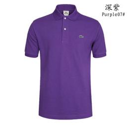 Wholesale polos t shirts resale online – Lacostè Fashion Brand designer polos men Casual t shirt Embroidered Medusa Cotton polo Shirt High street collar Luxury Polos shirts