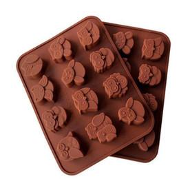 12 Hole Owl Shape Silicone Chocolate Mold , Ice, Cupcake, Lollipop,& Sugar Tool 100pcs on Sale