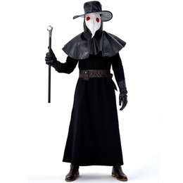 Wholesale steaming clothes resale online - Medieval steam punk wind Halloween adultdoctor bird mouth Crow Clothes and clothing long mouth mask clothing EegtC