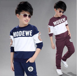 burgundy pullover Australia - Children's Boys' Autumn Suit New Zhongda Children's Autumn Sports Korean Version Handsome Spring And Autumn Fashion Size 120