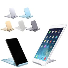 plastic stand for tablets NZ - cgjxs Universal Adjustable Mobile Phone Holder For Iphone Huawei Xiaomi Plastic Phone Stand Desk Tablet Folding Stand Desktop