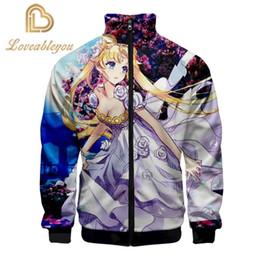 Wholesale ivory stand collar winter coat resale online - Sailor Moon Print Stand Collar Jacket Men Women Winter Fashion Casual Harajuku Soft Jacket Coat Hot Sale