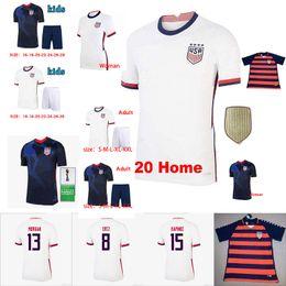 Wholesale america s cup online – design 2020 World cup copa America Soccer Jersey Lavelle Shirt champion women man LLOYD RAPINOE KRIEGER Football Uniform Size S XXL