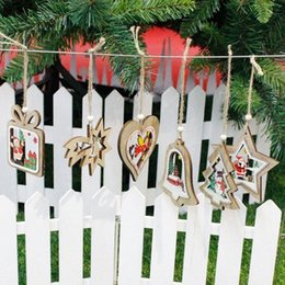 wood signs home decor UK - Painted Wooden Sign Muti Designs Christmas Wood Wall Hanging Decor Christmas Home Party Decor For Kids Bedroom And Door XPIN#