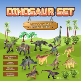 animal world toys NZ - 18pcs set simulation dinosaur model toy Jurassic solid overlord dragon sword animal world best gift for boys children free shipping 01