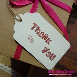 shipping thank card Australia - 400pcs,4x7cm Thank you gift tag,Paper DIY hang tag cards for party favor box bag deco Free shipping