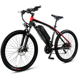 Wholesale adult bicycles online – design Scooter adult electric vehicle shock absorption shifting mountain bike lithium battery off road bicycle battery car DDC09