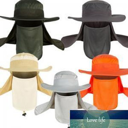 uv hat neck protection NZ - Unisex Outdoor Fishing Hat Sports Hiking UV Protect Face Neck Cover Flap Mask Summer Sun Cap Wide Brim LJJW88