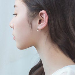 matching heart rings NZ - ktnHB s925 silver and hollow-out heart-shaped earcold wind earrings women's Korean simple ear ring personalized trendy all-match earrings