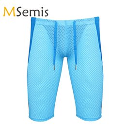 panties leggings UK - Mens Running Shorts Sports Tights Pants Stretch Workout Leggings Gym Yoga Shorts Underwear Jogging Fitness Male Sports Panties