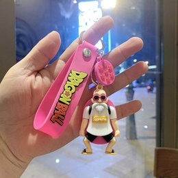 3d keychains 2020 - Anime Trinket Lovely Chain Cute Model Key Silicone Toy 3d Rings Key Childs Goku Tx Cartoon Doll Figure Gift Keychains fl