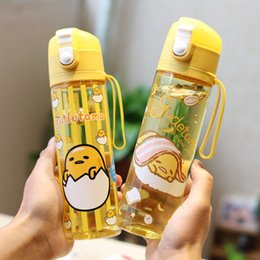 tritan plastic UK - Kawaii Cartoon Sport Water Bottles Portable LeakProof Shaker Bottle Outdoor Travel Tritan Plastic Drink Bottle BPA Free