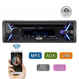 music output 2020 - Car DVD MP3 Media Player One Din Bluetooth Music CD Car Radio Player 12V 35W Aux Audio Output cheap music output