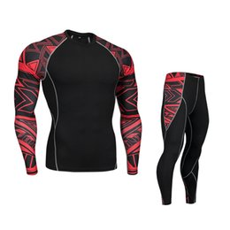 Wholesale warm underwear resale online - Motorcycle Men Thermo Underwears Suits Set Motorcycle Skiing Winter Warm Base Layers Tight Long Tops Pants Thermal Underwear