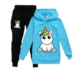 fluorescent tee shirt Australia - Unicorn Hoodies Kids Sweatshirts Fashion Kids Hooded T Shirt Baby Toddler Girls Coat Kids Clothes Boys Casual Tees Sportswear