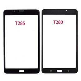 lcd tabs NZ - 10pcs For Samsung Galaxy Tab A 7 .0 2016 T280 T285 Touch Screen Panel Glass Lens Sm -T280 Sm -T285 Lcd Front Outer Replacement