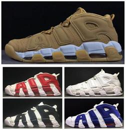 venda por atacado Mais novo mais uptempos suptempos homens sapatos de basquete Prm premium trigo ouro s metallic tri-colors 3m pippen sneakers 36-47