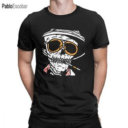Wholesale bat man movies online – ideas Men T Shirt Skull Fear And Loathing In Las Vegas Tops Cotton Tee Shirt Short Sleeve Movie Bat Country Drugs Johnny T Shirt