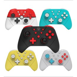 Discount dual joysticks Dual Motor Vibration NFC Bluetooth Wireless Gamepad Controller 3D Shooting Joystick Joypad For Switch NS  Switch Lite