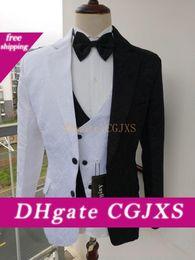 Wholesale suit batman online – ideas New Design Batman Two Faced Costume Men Paisley Prom Suits Three Pieces Business Suit Groom Tuxedos Jacket Pants Vest Tie W1234