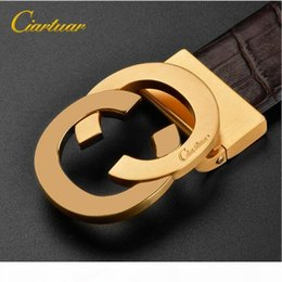 best leather belts for men NZ - New Best Quality Fashion Business luxury belt designer belt Genuine Leather Pure copper belts buckle for man brand belt with retail package