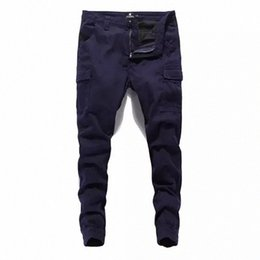 mens long cargo pants NZ - Mens Fashion Streetwear Jeans Jogger Pants Solid Pants Denim Cargo Male Long Pants Plus Size Clothing HCXd#
