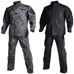 tactical uniforms 2020 - Uniform Shirt + Pants Outdoor Paintball Multicam Tactical Ghillie Suit Camouflage Army Combat Hunting Clothes cheap tact