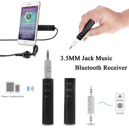 Hands-Free Music Stereo Bluetooth Receiver Car AUX Porto sem fio Speaker Multi-função Conector Para Laptop PSP Headphone