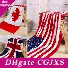 Wholesale swimwear free shipping europe for sale – plus size Summer Beach140 cm Towel Drying Washcloth Swimwear Shower Towels Usa Uk Canada Flag Dollar Design