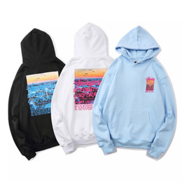 Wholesale stussy hoodie for sale – custom 2020 New X2003 Stussy Seiko Embroidered New Terry Terry Black White Sky Blue M XXL High Quality Cotton Fabric Hoodie