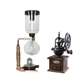 Vacuum Coffee Maker Household Boiling Siphon Pot Set Glass Ware Coffee Machine 3-Person 5 People's on Sale