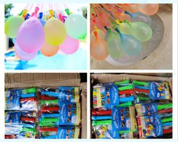 water balloon magic Canada - Special promotion magic small water polo water fight balloon happy water bomb balloon automatic knotting children's toy color mixed