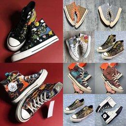 Venta al por mayor de alto-bajo 2021 diseñador1970 converse todas las 70 estrellas Chuck Taylor estrella Toms lona zapatilla de deporte Zapatos de plataforma mandriles zapatos del patín