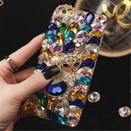 iphone 3d big case Australia - with Tempered glass,phone case iphone 11 case iphone 11 pro max case Big bling stones fox Crystal Diamonds Rhinestone 3D phone cases