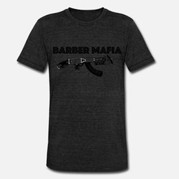 men barber clippers Canada - Barber Mafia Clipper Gun t shirt men designer tee shirt S-3xl slim Crazy Breathable Spring Standard shirt