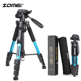 dslr camera professional NZ - Zomei Blue Q111 Lightweight Tripod Professional Portable Travel Camera Stand with Pan Head Carry Bag for SLR DSLR Digital Camera T191025