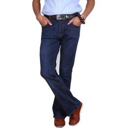 Wholesale mens boot cut pants resale online – designer New Jeans Boot Cut Straight Pants Flared Classic Male Mens Denim Vintage Leg Fit