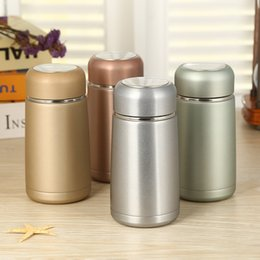 stainless steel mugs for kids NZ - 300ml Small Thermos Water Bottle Stainless Steel Thermal for Tea food Children Kids Filter Flask Cup Vacuum Mug School Student LJ200821