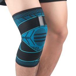 elastic knee sleeve support UK - 2020 New 1PCS Fitness Running Cycling Knee Support Braces Compression Knee Pad Sleeve Basketball Volleyball Elastic Anti-slip