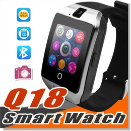 smart watch phone q18 NZ - Q18 smart watch watches bluetooth smartwatch Wristwatch with Camera TF SIM Card Slot   Pedometer   Anti-lost   for apple android phones