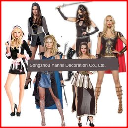 warrior women costumes UK - Le5l4 iU07i Halloween adult goddess role-playing fighter Greek female horn warrior Acting Halloween adult female fighter role-playing costume