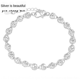 silver rolled chain NZ - Hollow bracelet money rolling exquisite beads women's Korean bracelet ball silver plated ball round style jewelry OlqmJ