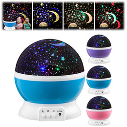 projector lights for kids Australia - LED projector star Moon colorful rotating night light lamp Galaxy for bedroom decor kids gifts battery operated