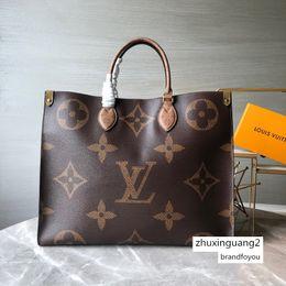 Toptan satış Onthego Bez Tasarımcı Bayan GM MM PM Omuz Alışveriş Günlük Çantası Lüks Çanta Poşet Aksesuarlar M44674