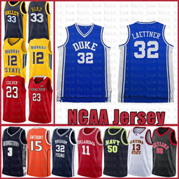 jersey christian NZ - Christian 32 Laettner NCAA Duke Blue Devils Kyrie College Irving LeBron 23 James Dwyane 3 Wade Basketball Jersey Anfernee 25 Hardaway Curry