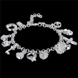 Wholesale Wholesale fashionable hot women's 925 sterling silver bracelet 925 silver bracelet jewelry womens accessoires free shipping
