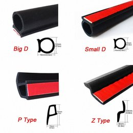 car window rubbers NZ - 5 meters P Z B Big D Type Car Rubber Seal Strip Car Sticker Anti Noise Window Soundproof Sealant Insulation Door Trunk VCZK#