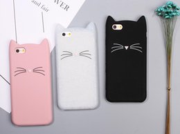 3d ear cover Australia - cgjxs New Cute Cartoon 3d Black Beard Cat Ears Animal Capa Soft Silicone Phone Cases Cover For Ipone 7 7plus 6 6s 6plus Fundas